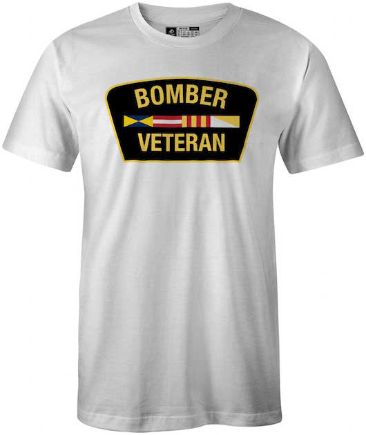 Bombers Veteran Apparel, T-Shirt, White