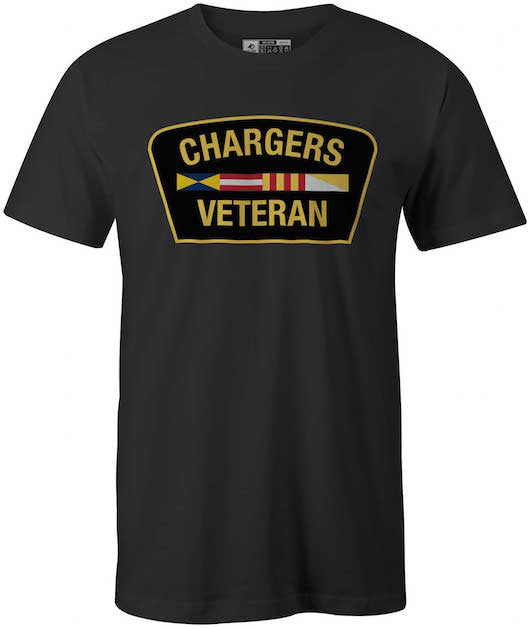 Veteran of Hillsdale College Chargers T-Shirt, Black