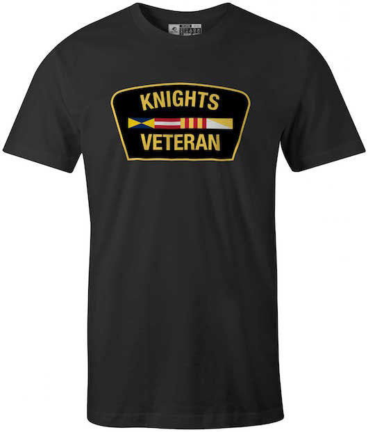 Veteran, Graduation of Calvin College Knights T-Shirt, Black