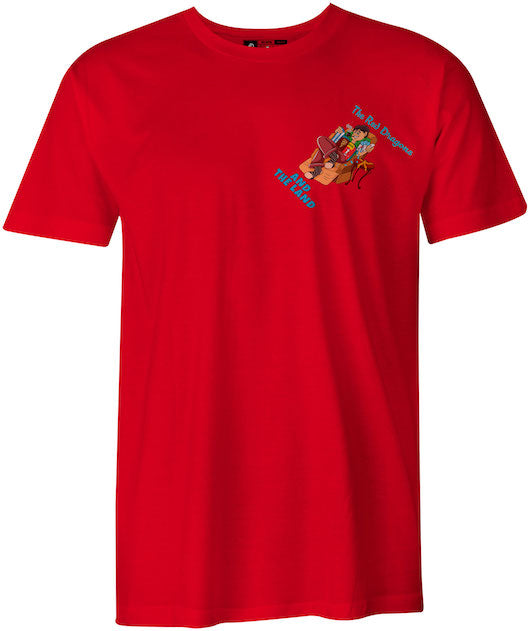 Lazy Boy Red Dragons and the Land, Cortland College Red T-Shirt