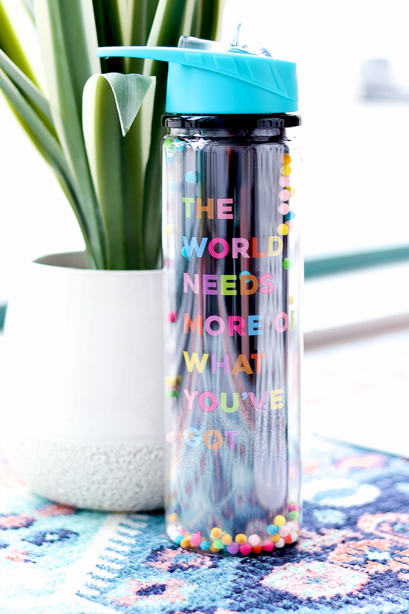 The World Needs More Of What You've Got Water Bottle, Black