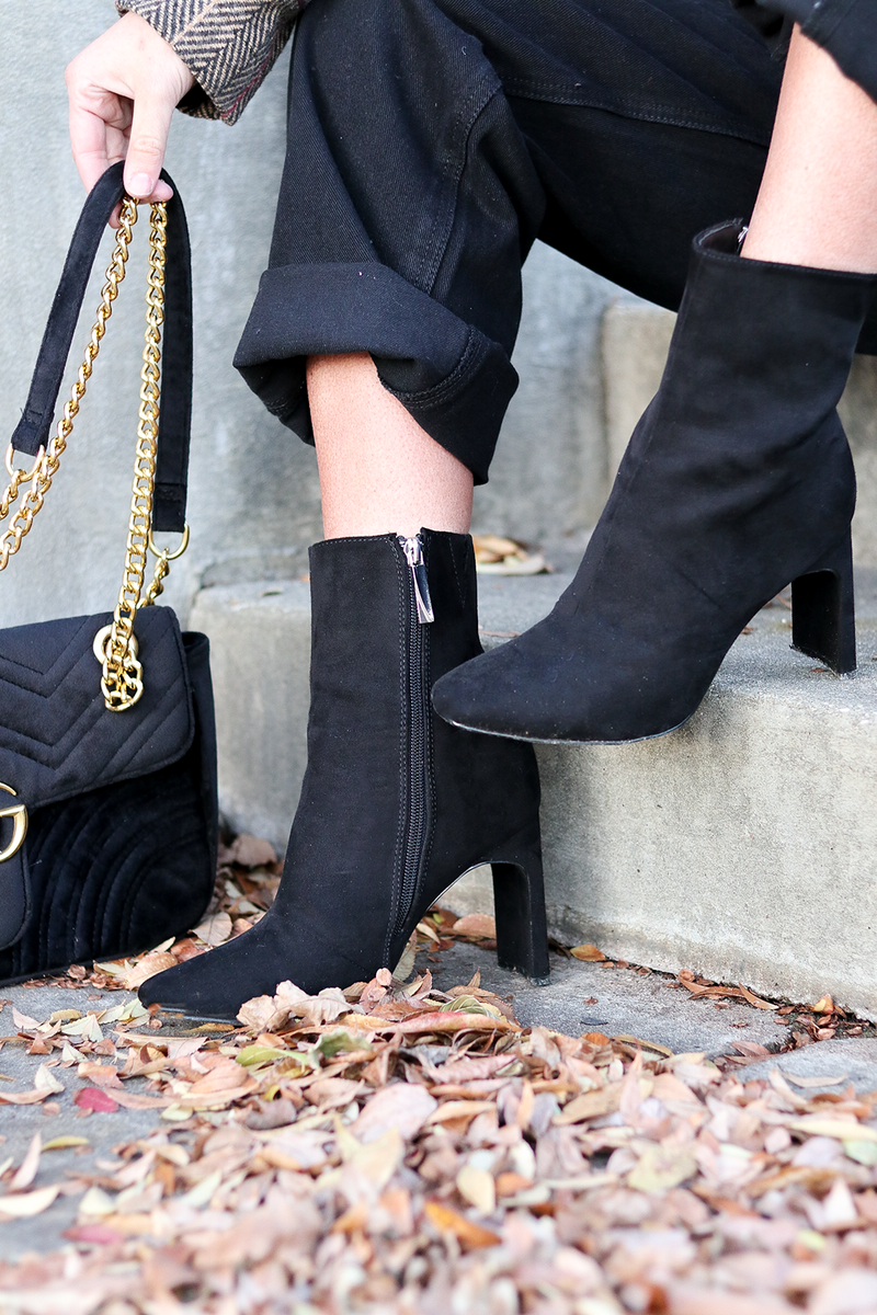 New Found Love Booties, Black