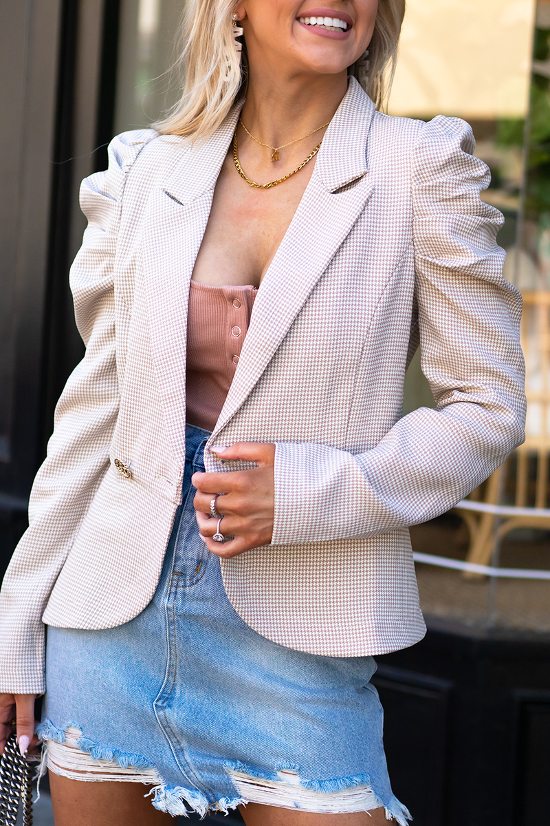Captured Moments Blazer, Beige