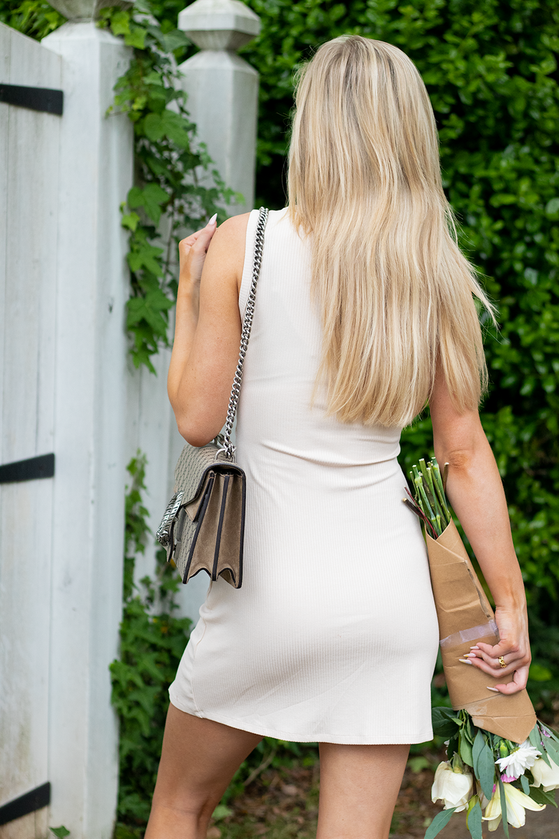 Slightly Obsessed Dress, Taupe