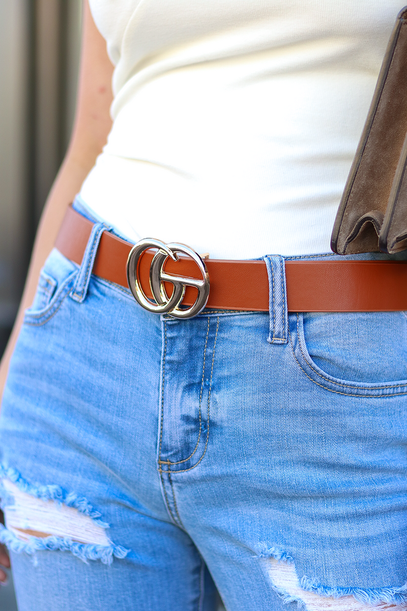 Double Trouble Belt, Brown