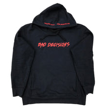 Load image into Gallery viewer, BAD DECISIONS HOOD ~ NAVY