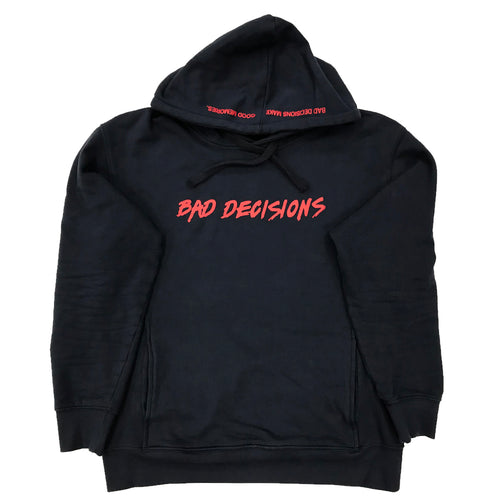 BAD DECISIONS HOOD ~ NAVY