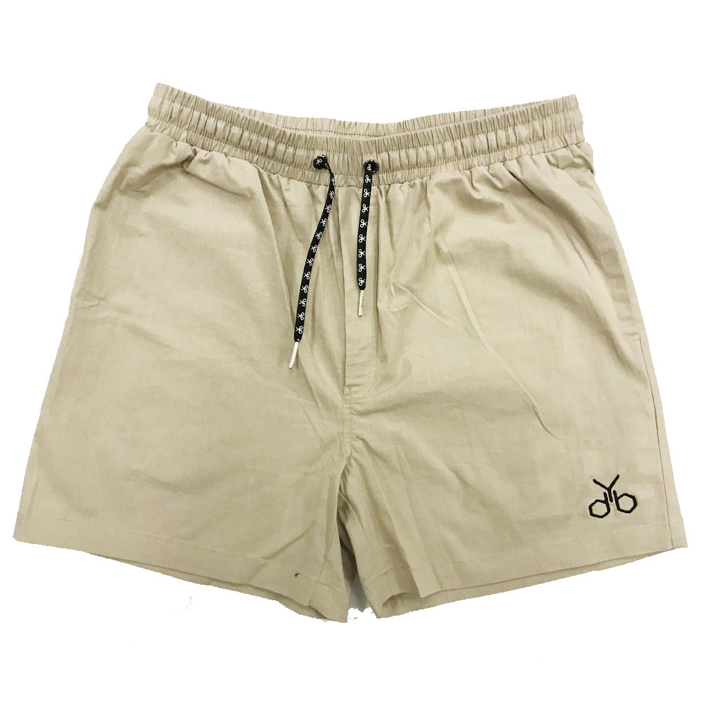 YDB LOGO SHORTS ~ TAN