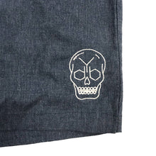 Load image into Gallery viewer, YDB SKULL SHORTS ~ DENIM WASH