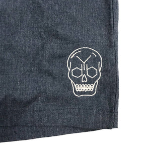 YDB SKULL SHORTS ~ DENIM WASH