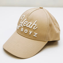 Load image into Gallery viewer, YEAH DA BOYZ BASEBALL CAP ~ TAN