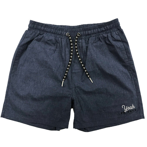 YDB SCRIPT SHORTS - DENIM WASH