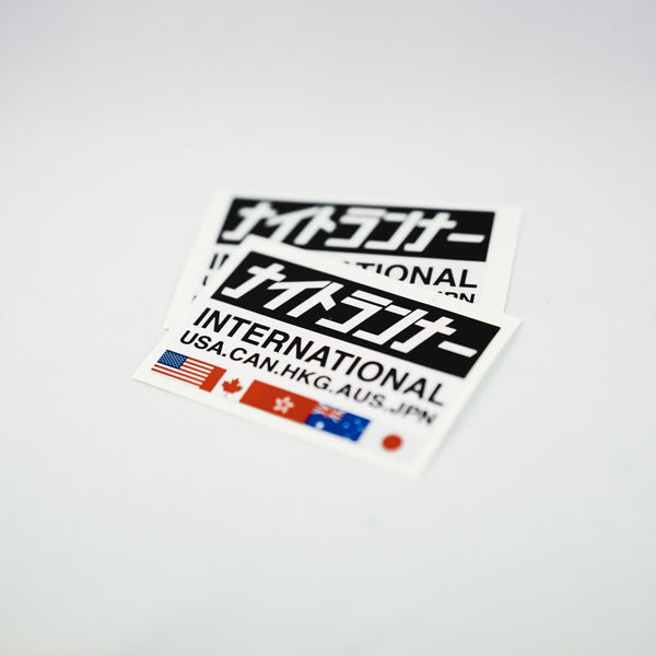 INTERNATIONAL BADGE DECALS