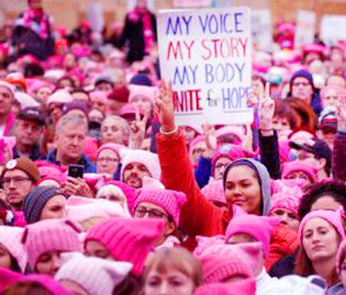 Pink pussyhat beanies women's march