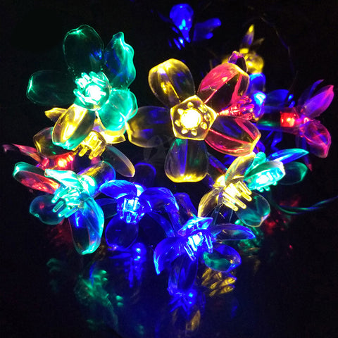 Unique Solar Flower Christmas Lights