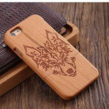 wood iphone case cherry wood wolf