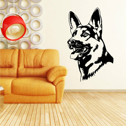 Removable German Shepherd Wall Sticker - The Kind Owl