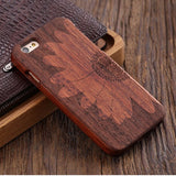 wooden iphone case rosewood sunflower