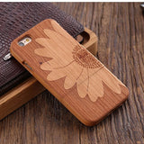 wood iphone case cherry wood sunflower
