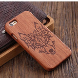 wood iphone case rosewood wolf