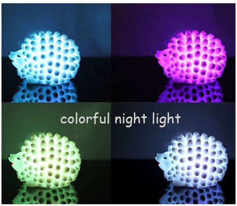 Hedgehog Night Light (changes color) - The Kind Owl