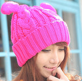 hot pink pussyhat beanie knitted women's