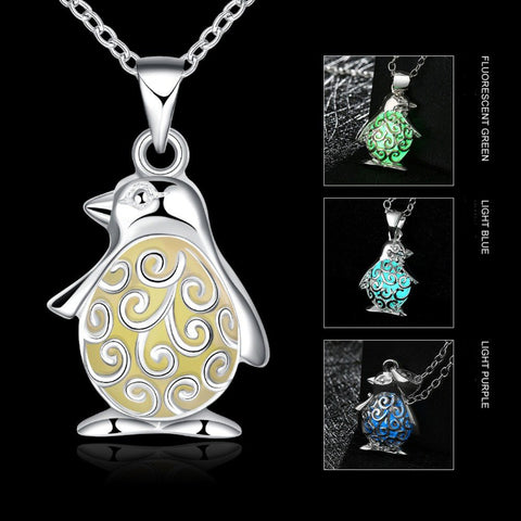 Luminous Penguin Necklace (3 colors) - The Kind Owl