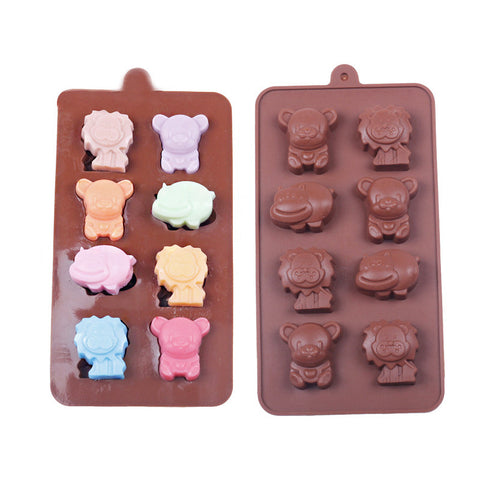 Hippo, Lion, Bear Silicone Mold