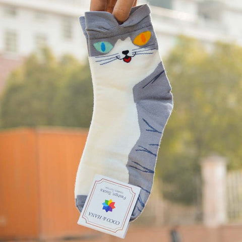 Cute Women's Cat Socks (4 Styles)