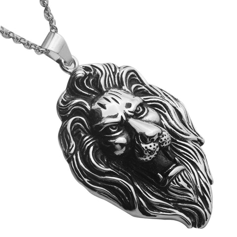 Stainless steel lion hip hop necklace pendant
