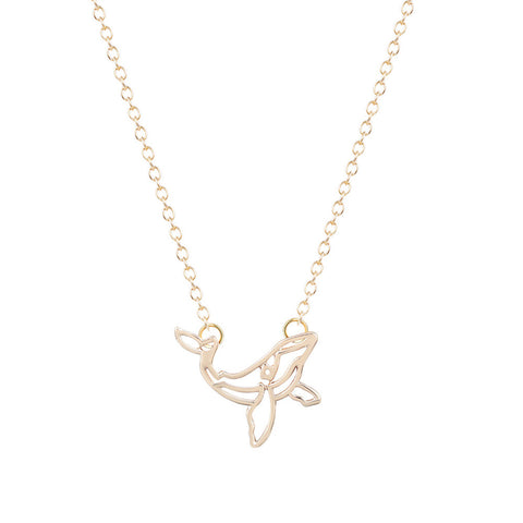 Elegant Whale Necklace - The Kind Owl