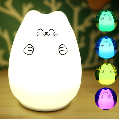 Rechargeable Cute Cat Night Light - The Kind Owl