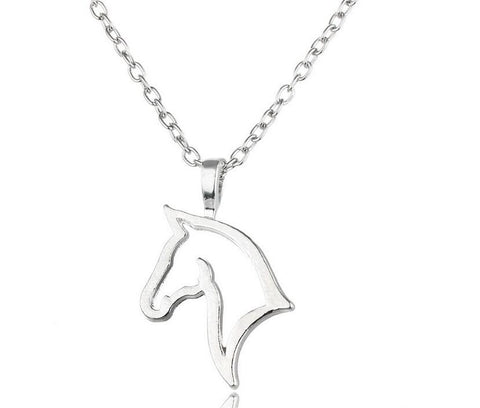 Horse necklace equestrian jewelry