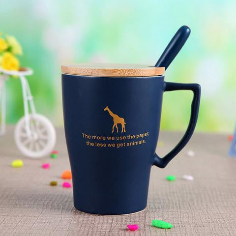 Eco-Friendly Coffee Cups (Elephant, Giraffe, Deer) - The Kind Owl