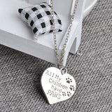 Paw print jewelry necklace wholesale fashion jewelry