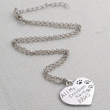 Paw print necklace in heart shape wholesale fashion jewelry