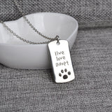 Live Love Adopt Necklace