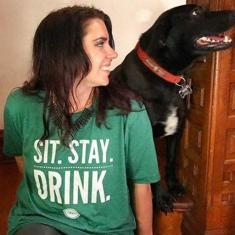 Sit. Stay. Drink. Bark Bar T-Shirt