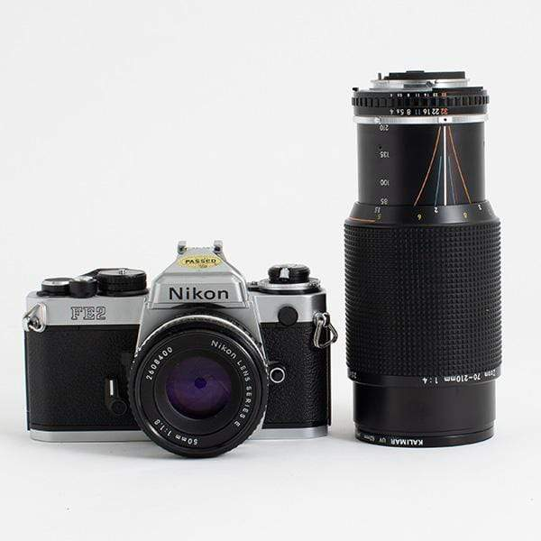 --Nikon FE2 Kit with Nikon Series E 50mm f/1.8 and 70-200 f/4 lens--