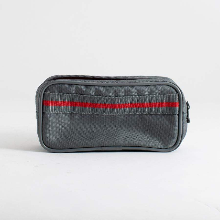 --Grey with Red Stripe Camera Carrying Case for Point and Shoot Cameras--