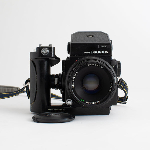 Zenza Bronica ETRS with 75mm F2.8 Lens and Grip