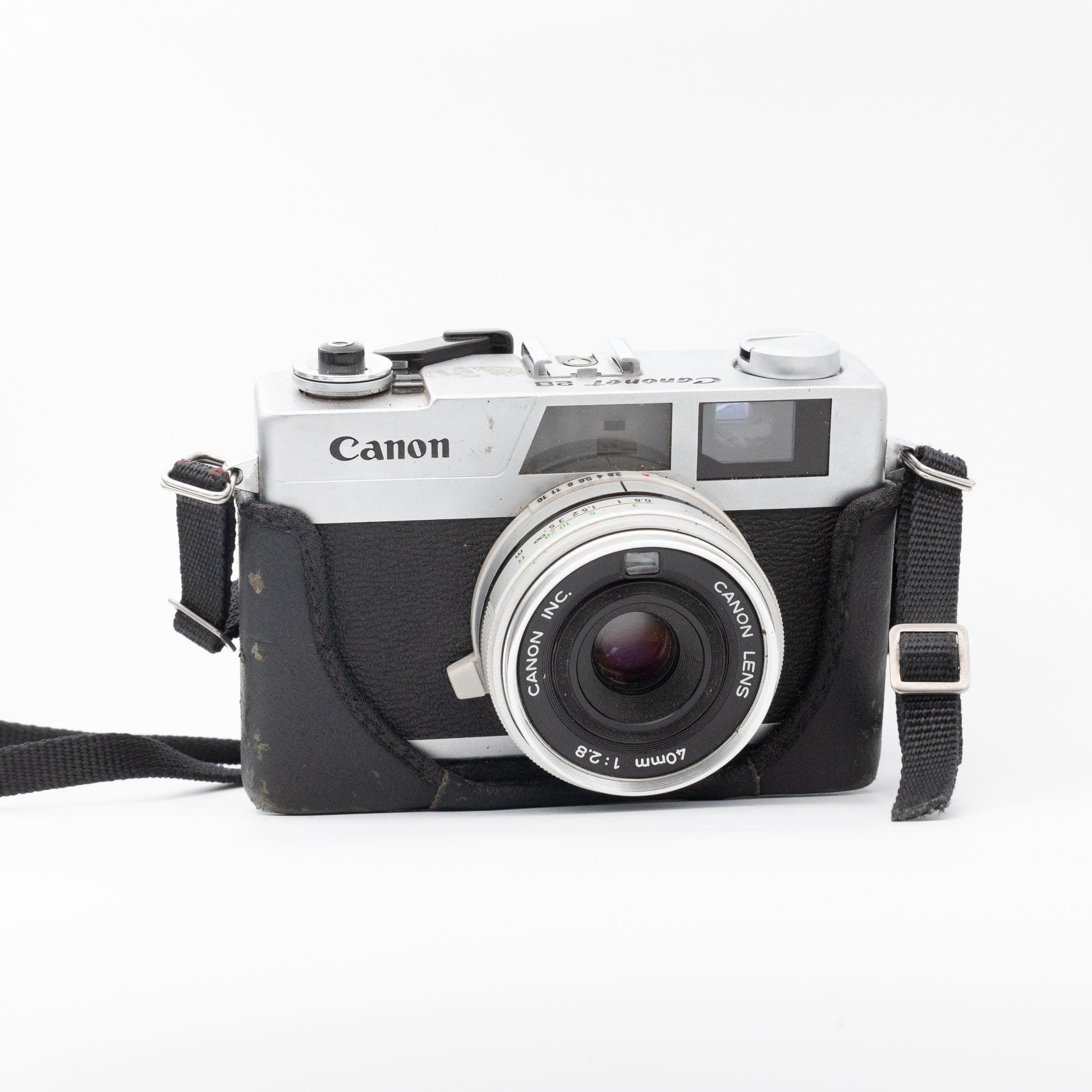 Canon Canonet 28 with 40mm f/2.8 with leather case