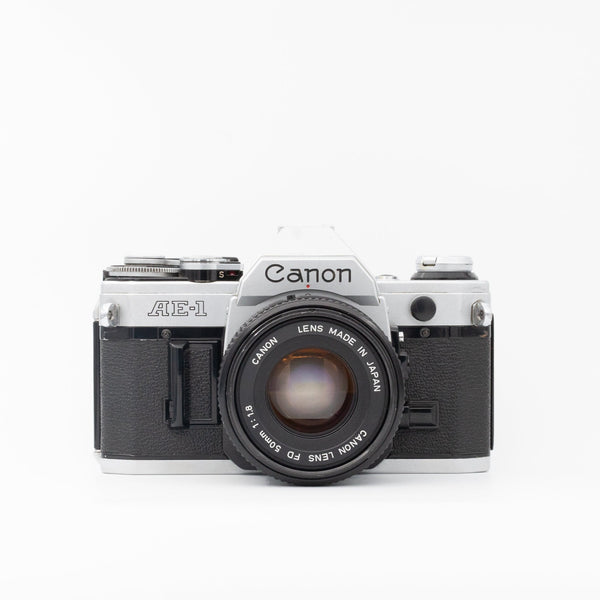 Canon AE-1 with Canon FD 50mm f/1.8 lens