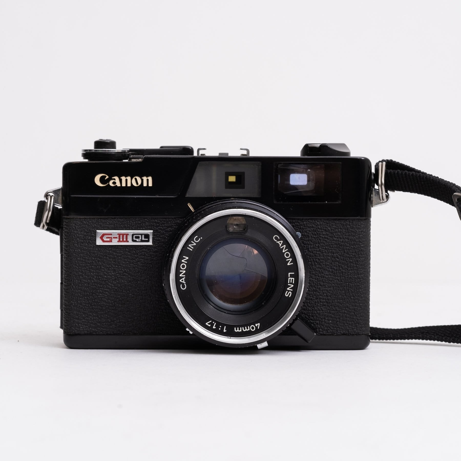 --Canon Canonet QL17 GIII BLACK 35mm Rangefinder Camera with 40mm f/1.7--