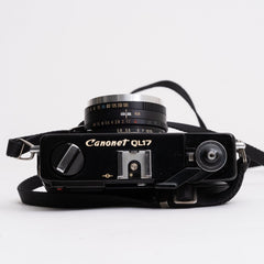 Canon Canonet QL17 GIII BLACK 35mm Rangefinder Camera with 40mm f/1.7