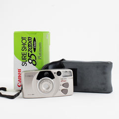 Canon Sure Shot 85 Zoom, Platinum in Box