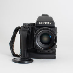 Contax 645 with 80mm Carl Zeiss Planar f/2 and Battery Grip