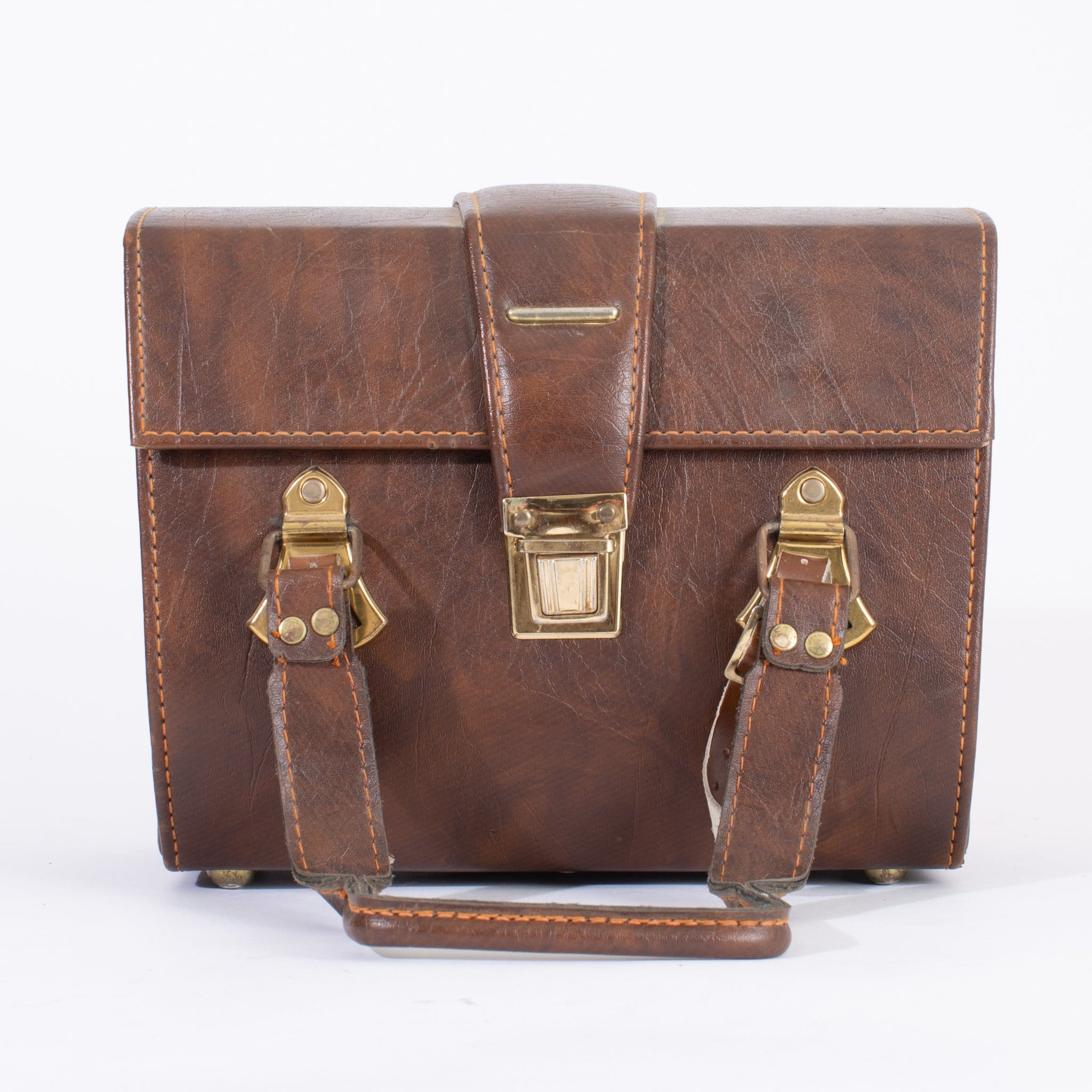--Vintage Leather Camera Bag--