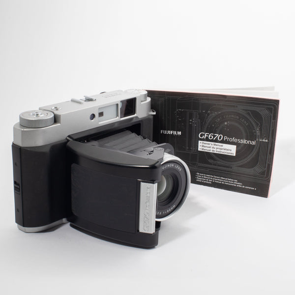 Fujifilm GF670 Rangefinder Folding Camera with Owner's Manual