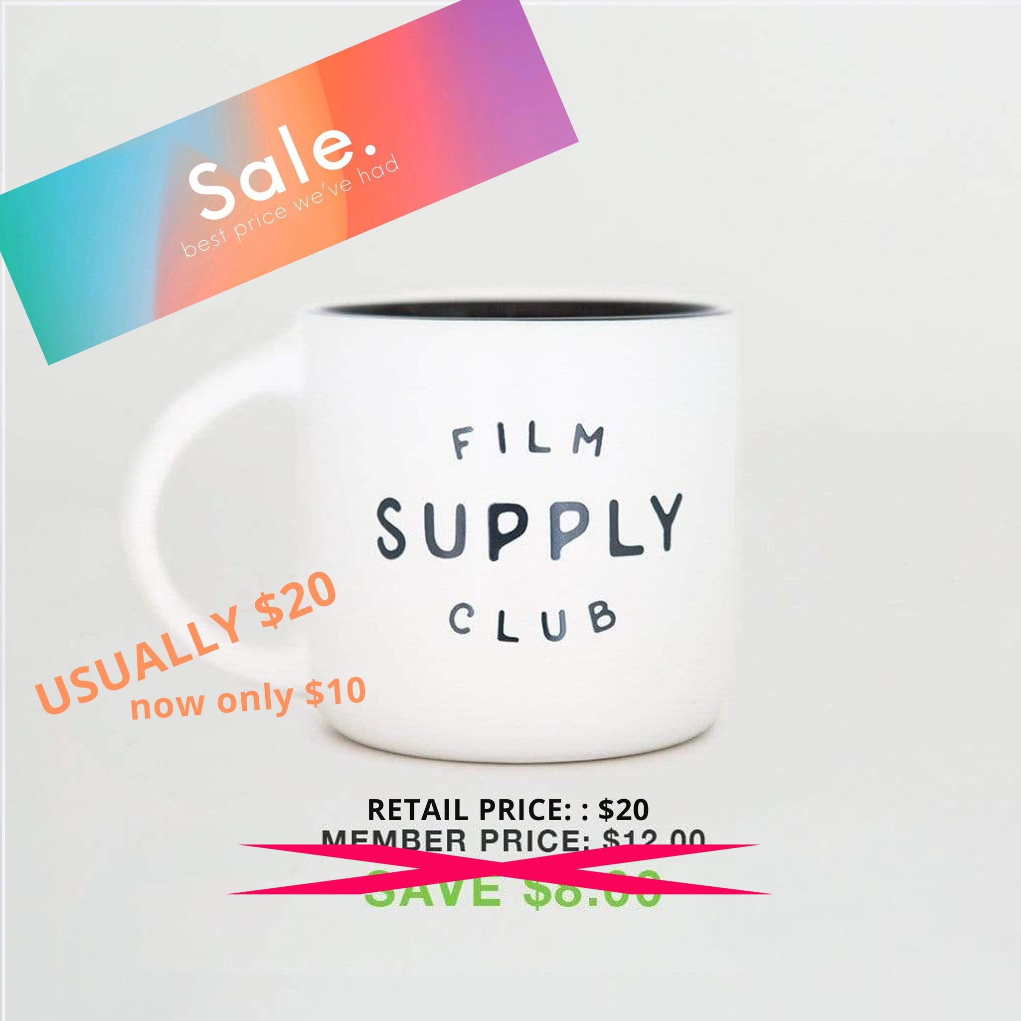 --Film Supply Club Coffee Mug - White--